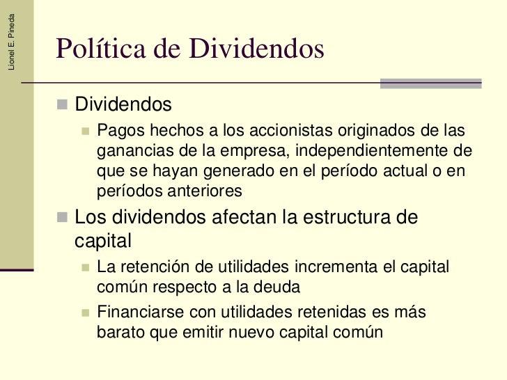 Politica de Dividendos Slide 2