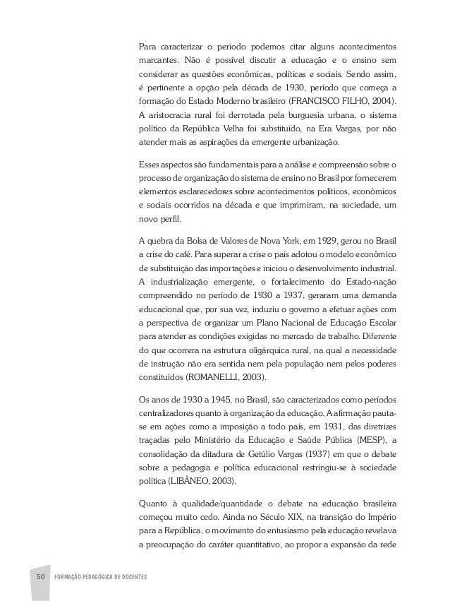 Sistema educacional brasileiro e a questão da educação nos dias atuais