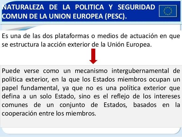 politica exterior y de seguridad comun de la union europea
