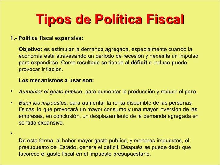 Politica fiscal macro - Tipos de calefaccion economica ...