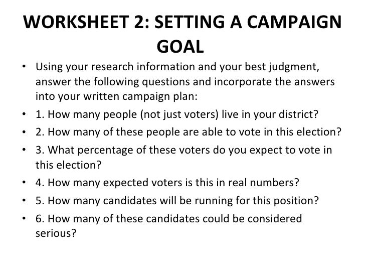 political campaign planning manual Political campaign planning manual page 4 of 105 stephanie lynn is a senior program director responsible for managing ndi's programs for malaysia and burma programs in malaysia focus on support for parliamentary and electoral reform.