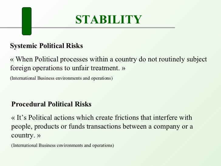 political risks for international trade Guide to exporting export types of risk in international trade political risk major political instability at your export destination can either disrupt.