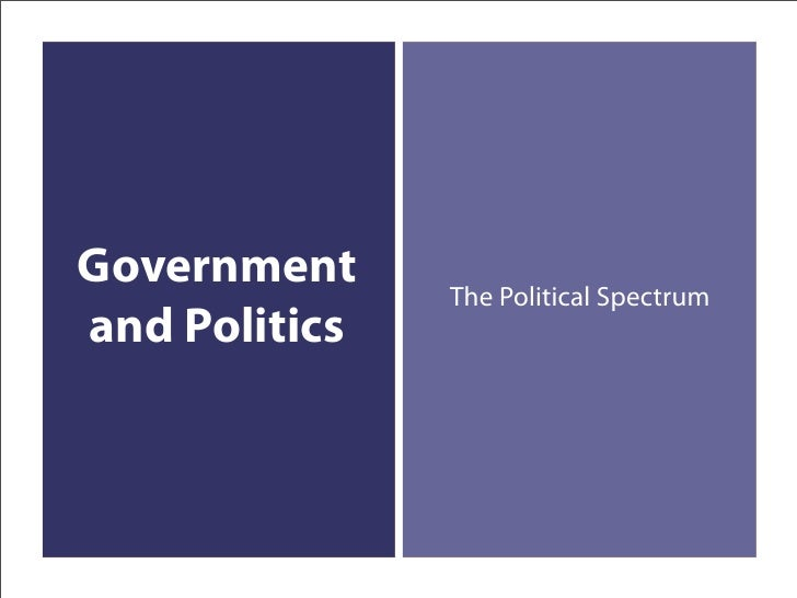 Government     The Political Spectrum and Politics