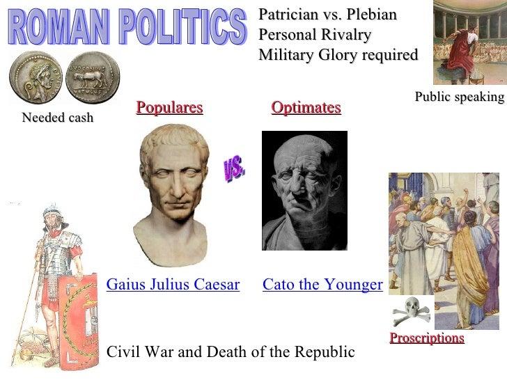 Resultado de imagen de optimates y populares