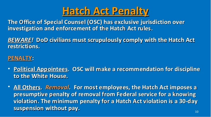 Image result for violation hatch act