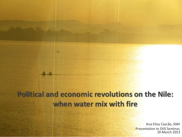 Political and economic revolutions on the Nile:            when water mix with fire                                       ...