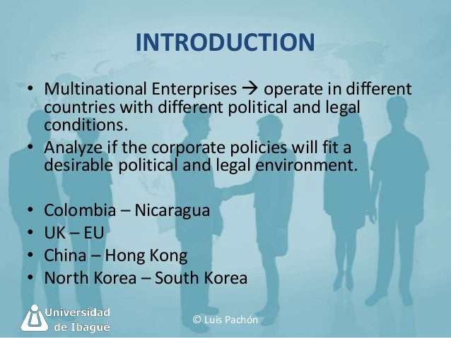 what different types of businesses operate in the international environment The global business environment can be defined as the environment in different sovereign countries, with factors exogenous to the home environment of the organization, influencing decision.