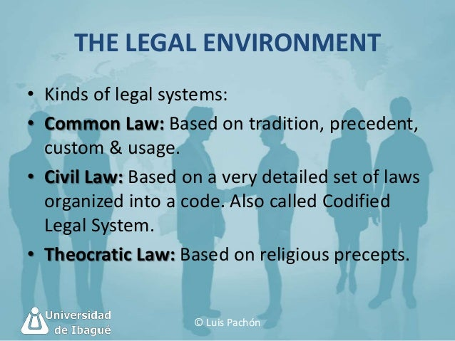 legal environment in marketing