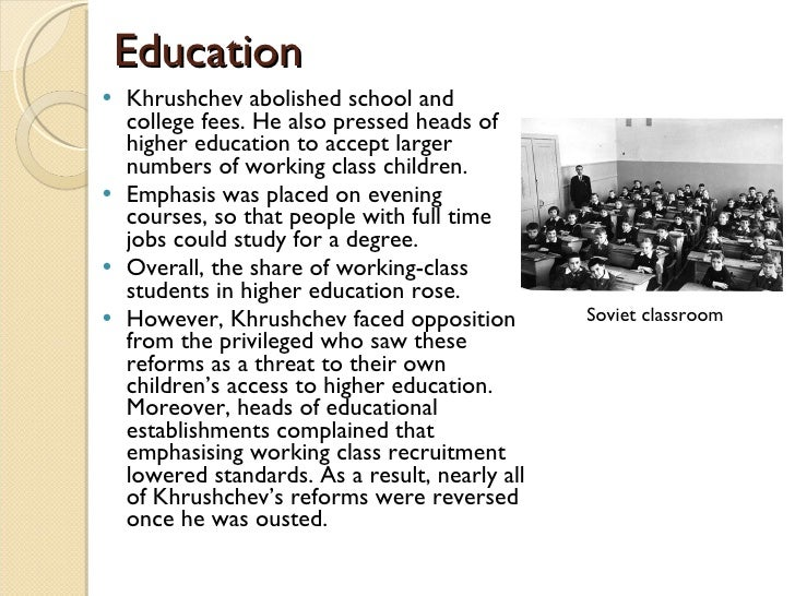 Stalin and social reform through education