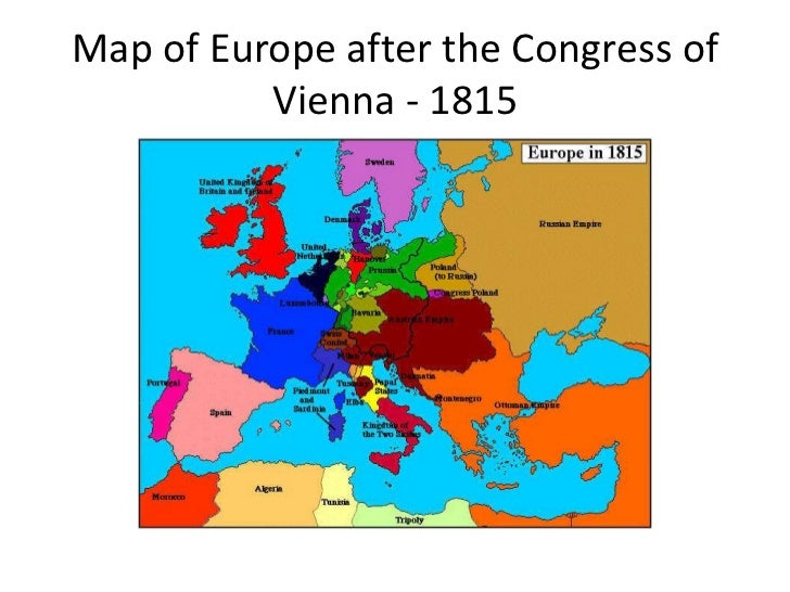 Political change in europe powerpoint 26 map of europe after the congress of vienna sciox Choice Image