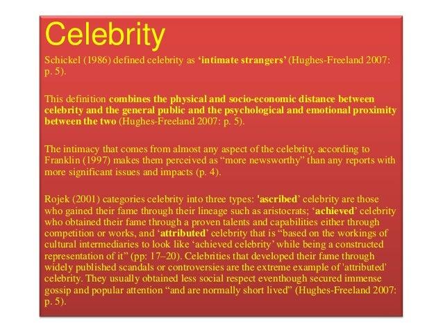Essay on Celebrity