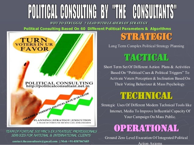 WHY TO STRUGGLE ? LEAD WITH LEADERS OF STRATEGY Political Consulting Based On 60 Different Political Parameters & Algorith...