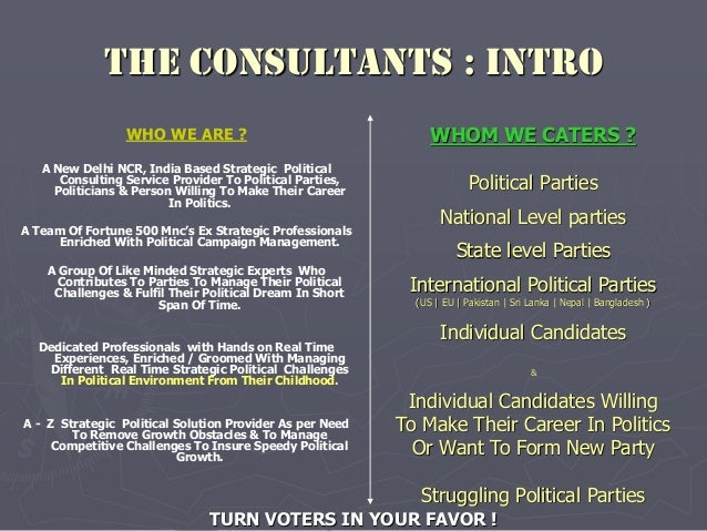 Political Consultant India | Political Consulting Firms In