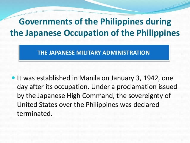 japanese occupation in the philippines summary