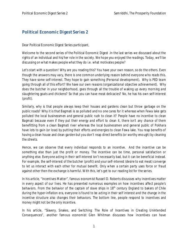 Political Economic Digest Series 2 Samriddhi, The Prosperity Foundation  1  Political Economic Digest Series 2  Dear Polit...