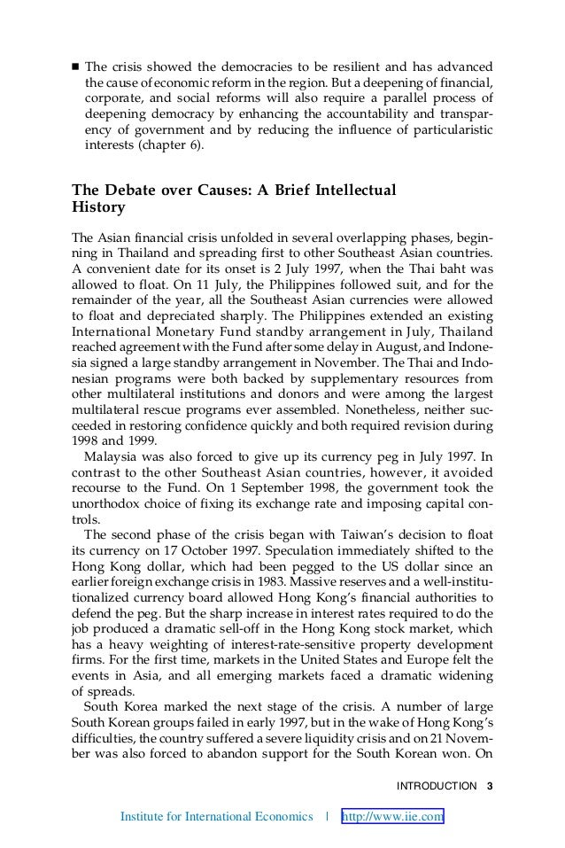 INTRODUCTION 3 Ⅲ The crisis showed the democracies to be resilient and has advanced the cause of economic reform in the re...