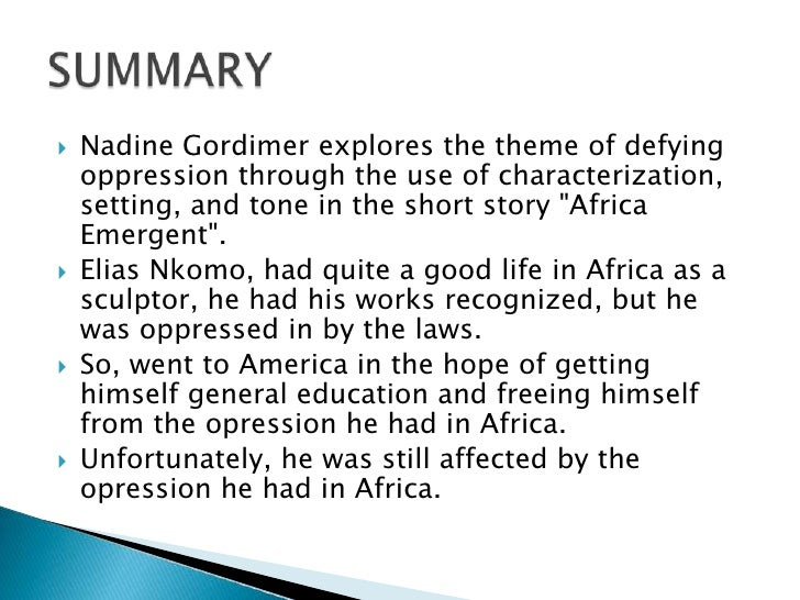 once upon a time nadine gordimer theme