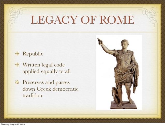 Political legacy of Greece and Rome
