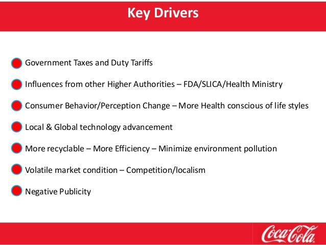 macro environment factors affecting coca cola Relationship management strategy for coca-cola company and  322 the  porter's five forces analysis of coca-cola co  a pestel analysis is a  framework or tool used by marketers to analyze and monitor the macro-   generally, prominent technological factors that impact coca-cola include.