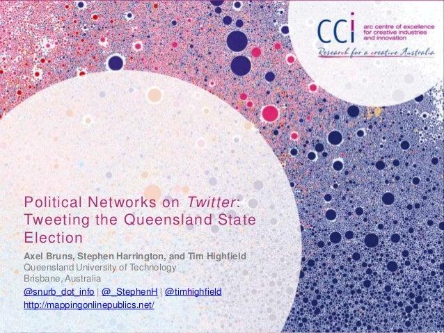 Political Networks on Twitter:Tweeting the Queensland StateElectionAxel Bruns, Stephen Harrington, and Tim HighfieldQueens...