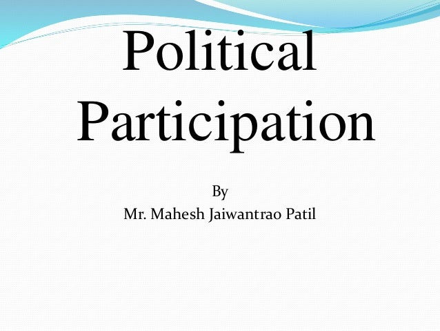 Types of Political Participation