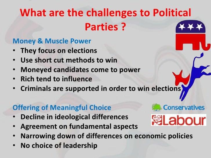 Contract wording for political party difference