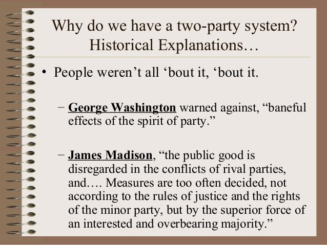 American political parties  |George Washington Warning Against Parties
