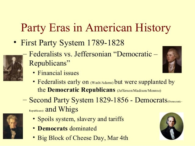 jeffersonian vs federalists Jeffersonian republicans vs federalists essay 1176 words 5 pages as the  young colonies of america broke away from their mother country and began to.