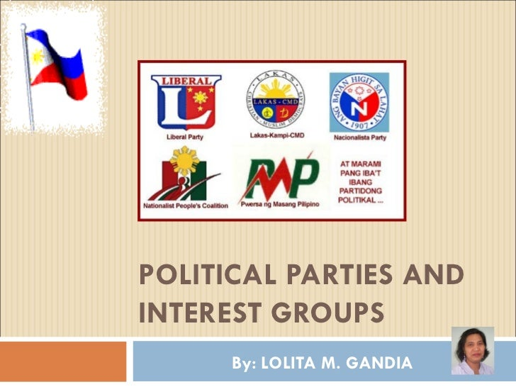 POLITICAL PARTIES AND INTEREST GROUPS By: LOLITA M. GANDIA