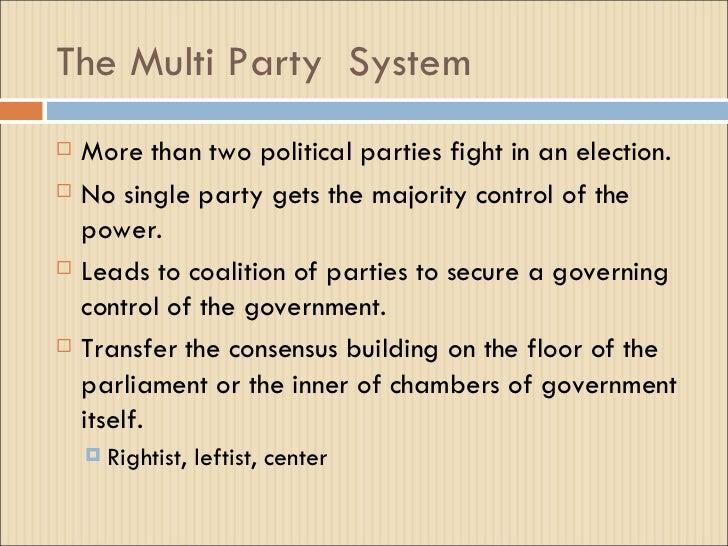 two party system 1 The system must change so independent candidates have a fair chance of  election  about 90% of votes went to one of these two parties.