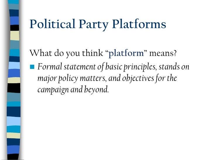 major parties platforms essay