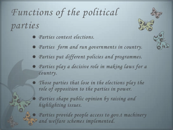 Essays on political parties in india