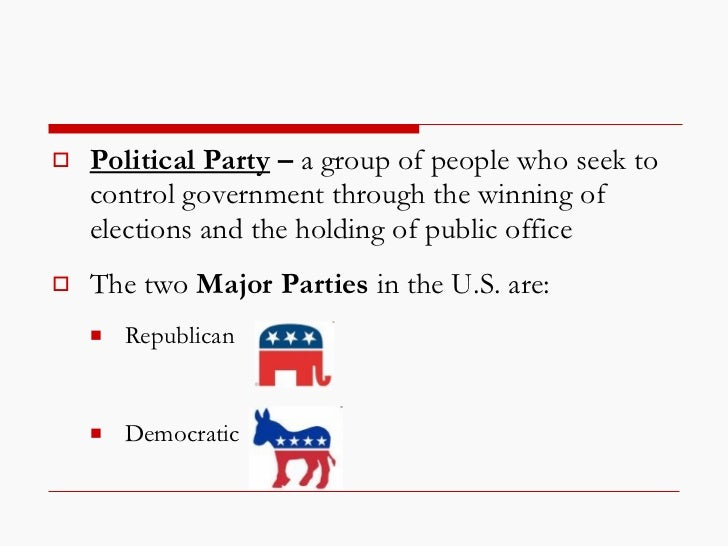 an introduction to the political parties in the us Polsc 111(w) introduction to american government and politics prereq/coreq:  engl 120  power and role of governors, state legislatures, parties, lobbies.