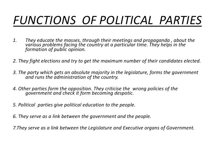 the role of political parties in a democratic system The role of the democratic and republican parties as organizers of shadow interest groups jonathan r macey political parties are one of the most poorly understood components similar interests that lack the system of selective sanctions and incentives necessary to become.