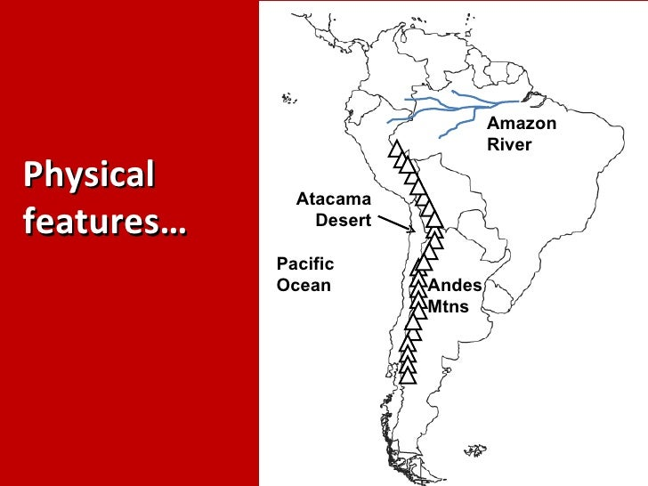 Political physical features of latin america