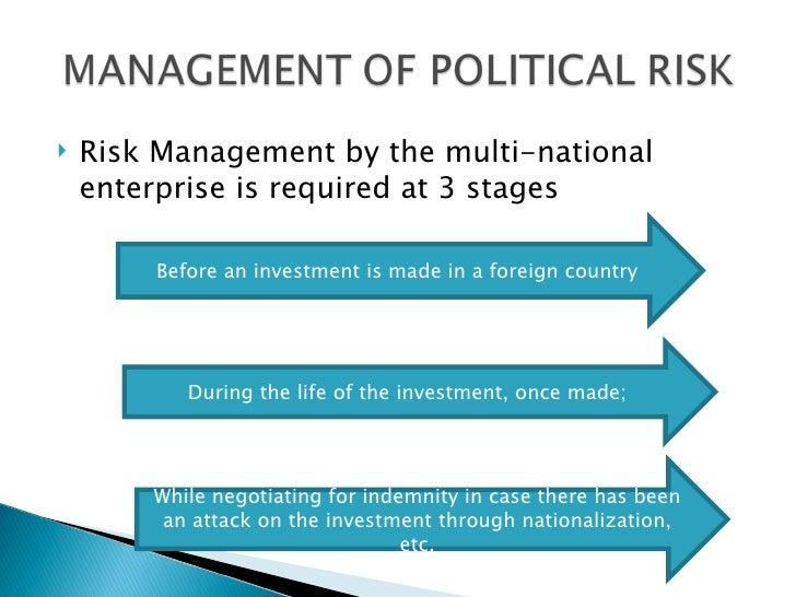 Managing political risk in middle east: focus on Libya