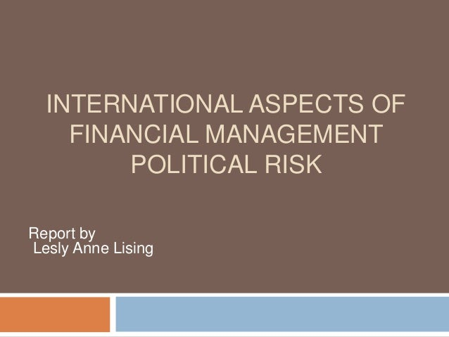 international financial management report the philippines Ias 34 applies when an entity prepares an interim financial report, without mandating when an entity should prepare such a report permitting less information ias 34 specifies the content of an interim financial report that is described as conforming to international financial reporting standards however, ias 34 does not.