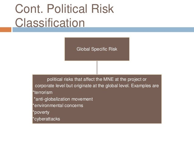 managing political risks essay What we do certainly know – given the recent catalogue of high-profile financial  calamities – is that the failure to manage risks can have devastating and,.