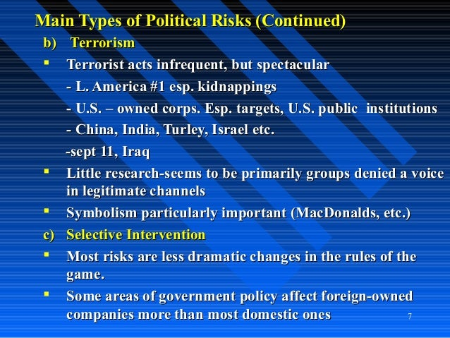 term paper iraq foreign direct investment risk assessment Start studying ch 16 learn an mnc considers direct foreign investment in macro-assessment of country risk refers to an overall risk assessment of a.