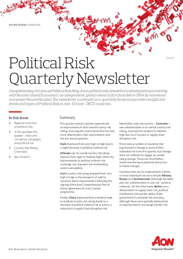Political risk map newsletter q4 2015 political risk map newsletter q4 2015 risk reinsurance human resources this quarter several countries experienced an improvement in their sciox Gallery