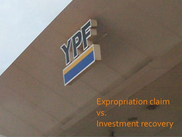 Expropriation claimvs.Investment recovery