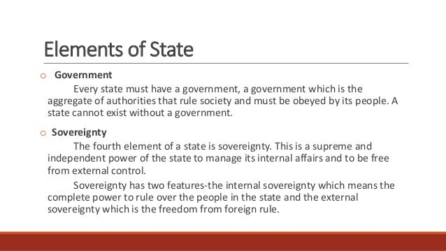State and Element of Political Science Essay