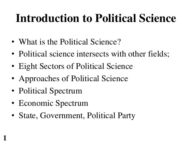 an introduction to the political science of federalism