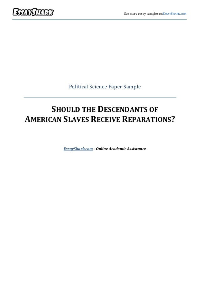 Paper on political science