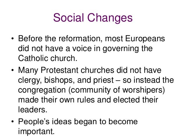 social effects of the reformation