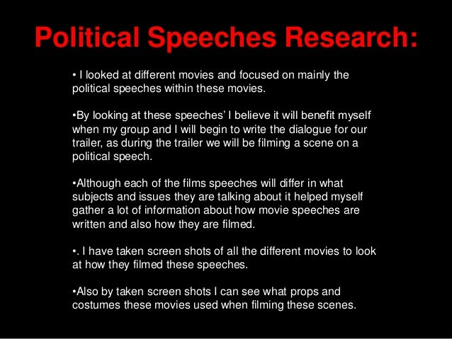 how to end a political speech