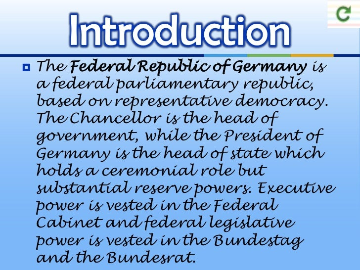 The political system in the germany