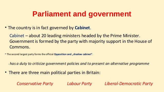 Political system of The United Kingdom on