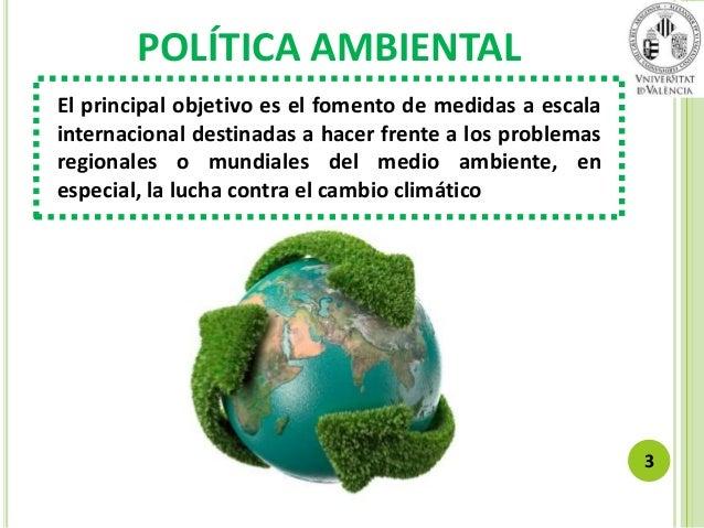 Gesti n y politica medioambiental for Que es politica internacional