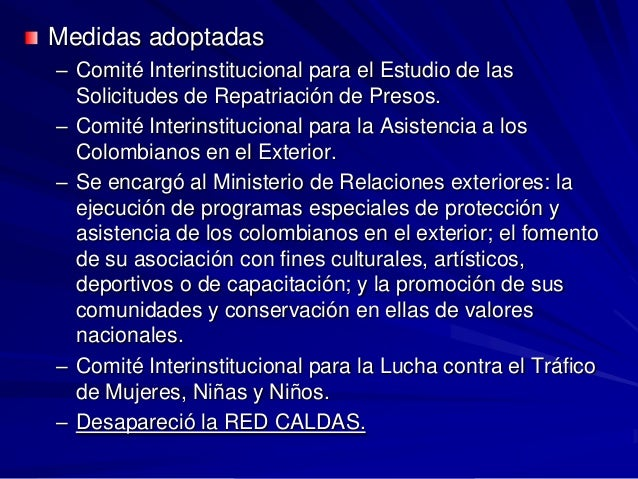 Politica Migratoria Colombiana A Partir De Los 90 2008